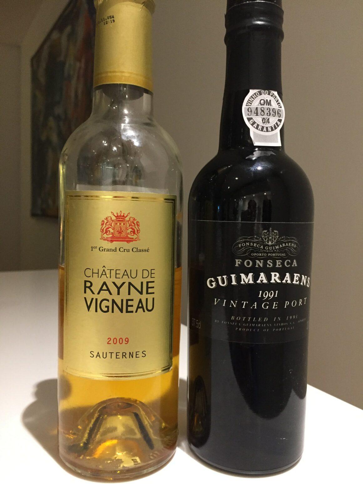 et godt sær med Vintage Port og Sauternes