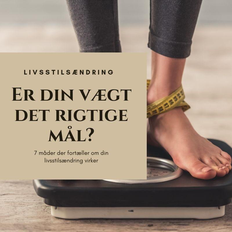 vægt er ikke et tegn på at du bliver mere sund